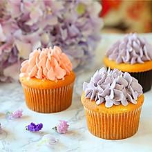 绣球花杯子蛋糕,520送给你爱的ta#一机多能 一席饪选#