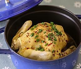铸铁锅无水葱油鸡的做法
