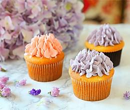绣球花杯子蛋糕,520送给你爱的ta#一机多能 一席饪选#的做法