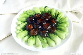 清爽健康的【香菇菜心】