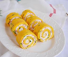 零基础美食❗️双色鸡蛋卷❗️厨艺小白10分钟搞定的做法