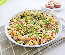 五彩纯素糯米饭的做法