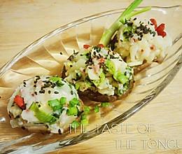 自创减脂低卡晚餐之香菇沙拉的做法