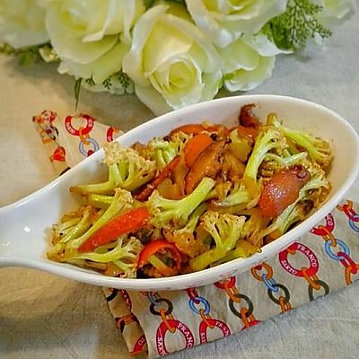 香菇炒菜花