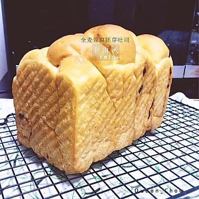 【女王厨房】全麦豆腐蜜豆胚芽吐司(100%中种)