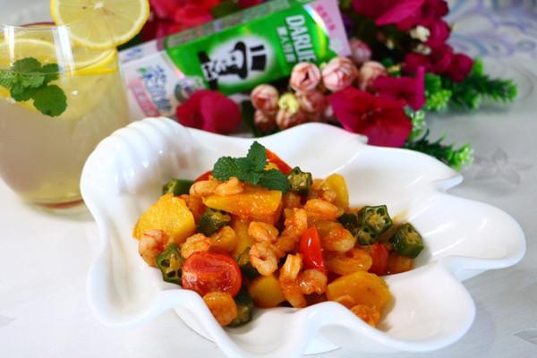 菠萝恋虾的做法