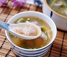 越吃越香的酸菜滑肉汤的做法