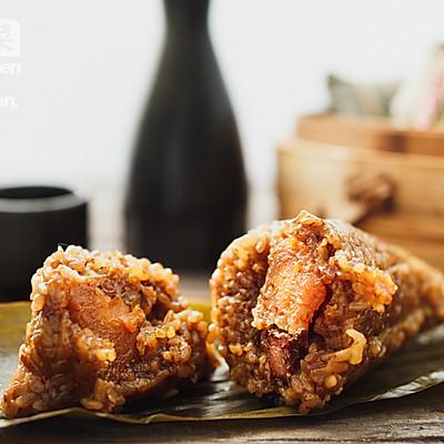 台式香菇蛋黄卤肉粽