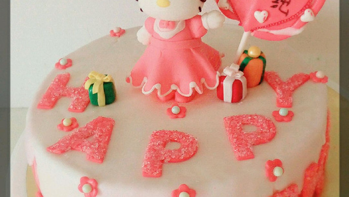 Kitty翻糖蛋糕(二)