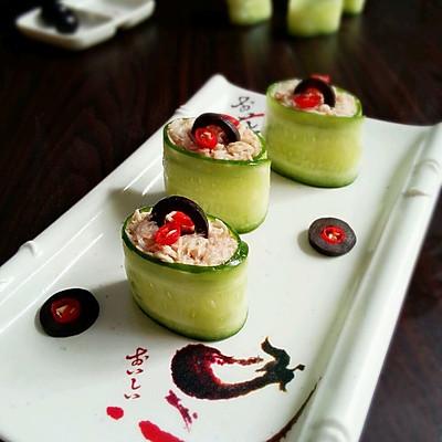 辣味金枪鱼黄瓜寿司