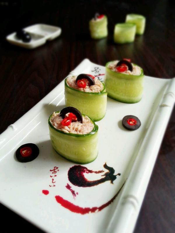 辣味金枪鱼黄瓜寿司的做法