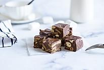 一分钟学会网红零食巧克力黑糖雪花酥的做法