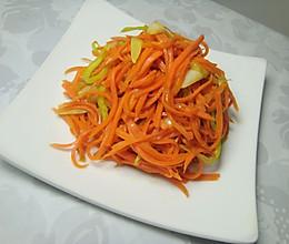 明目养生菜〜素炒胡萝卜丝的做法