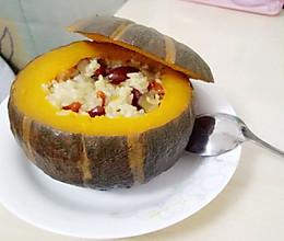 板栗南瓜糯米饭的做法