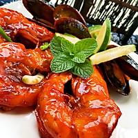 茄汁大明虾的做法图解7