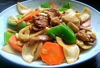 杏鲍菇青椒炒肉片的做法