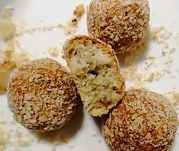 #餐桌上的春日限定#春游必备快手小点心椰蓉核桃酥的做法