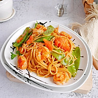 #520,美食撩动TA的心!番茄虾仁意面  秒杀西餐厅的做法图解9