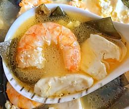虾仁豆腐海带汤‼️巨鲜美