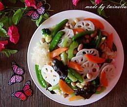 春季养生菜|炒素什锦(荷塘小炒)的做法