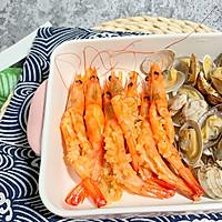 #一人一道拿手菜# 蒜蓉烤花蛤虾的做法图解12