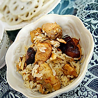 香菇焖鸡饭