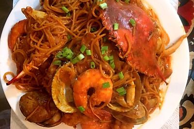 一起吃饭吧之青海大王海鲜炒面