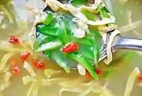 香浓的鱼汤也可以很青秀~苦瓜海鱼汤的做法