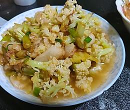 花菜炒肉的做法