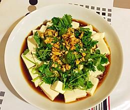 香菜拌豆腐的做法