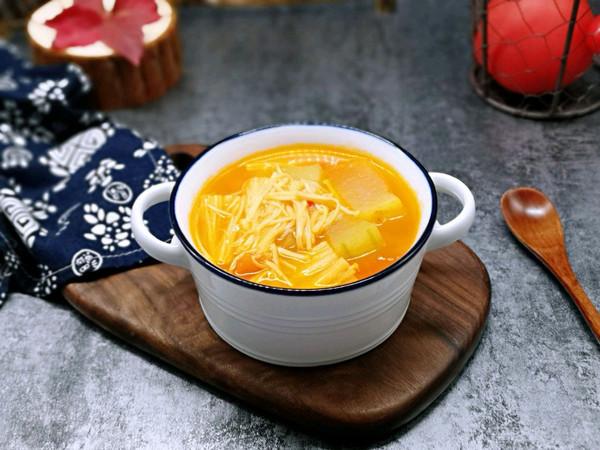 酸甜开胃~番茄金针菇冬瓜汤的做法