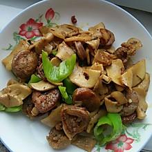 腊肠炒鸡腿菇(杏鲍菇)