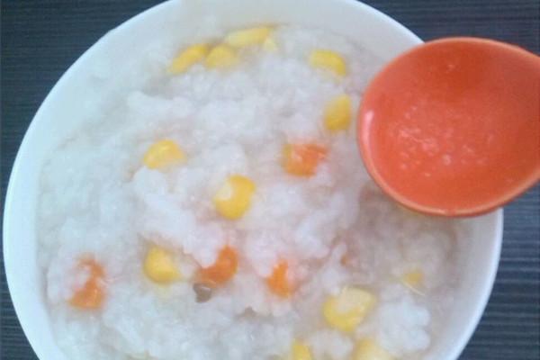 玉米胡萝卜粥的做法