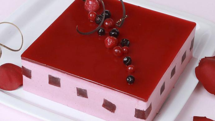 留一分清醒,留一分醉——蔓越莓慕斯蛋糕