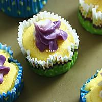 山药紫薯双色杯子戚风蛋糕的做法图解17