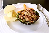 牛油果虾仁饭的做法