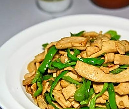 青椒炒白干子的做法