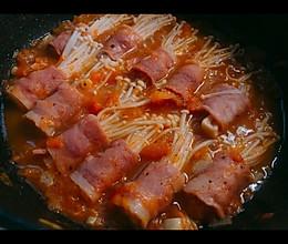 金针菇培根卷——记得多煮点米饭的做法