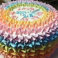 全新0失败 彩虹蛋糕 8寸6寸通用的做法图解12