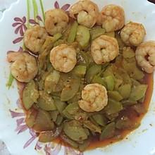 虾仁角瓜片