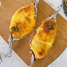 #中秋团圆食味#超长拉丝|芝士焗红薯,奶香浓郁