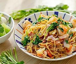 #憋在家里吃什么#香菜炒意面|爽弹鲜香的做法
