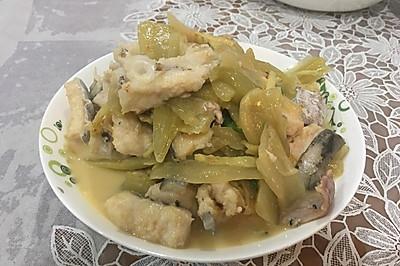 咸菜烩海鳗/鳗鱼
