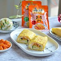 #童年不同样,美食有花样# 鸡蛋包饭卷的做法图解16