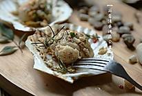 值得列入年菜菜单的创意西式料理--【蒜蓉法香烤扇贝王】的做法