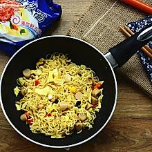 橄榄油拌面#小虾创意料理#