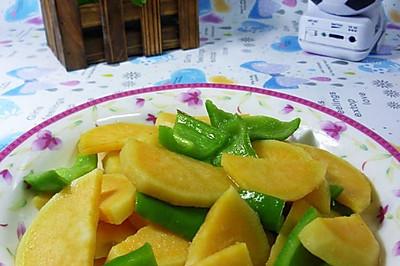 青椒炒红薯