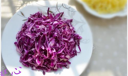 简单几步做出爽口赏心的节后清凉菜--凉拌紫甘蓝的做法