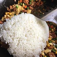 饭菜合一的营养低卡简餐-培根炒饭的做法图解8