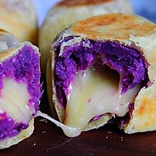 紫薯芝士爆浆仙豆糕│爆好吃